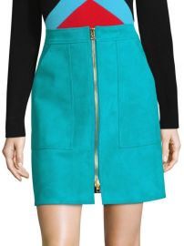 dvf SUEDE PATCH-POCKET MINI SKIRT at Saks Off 5th