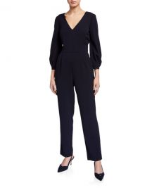 eliza j Bubble-Sleeve Straight Leg Jumpsuit at Last Call