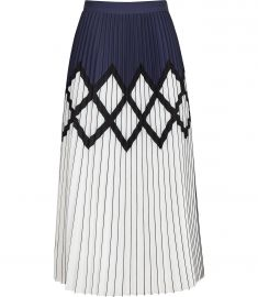 elsa PRINTED KNIFE-PLEAT MIDI SKIRT at Reiss