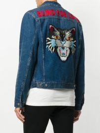 embroidered denim jacket at Far Fetch