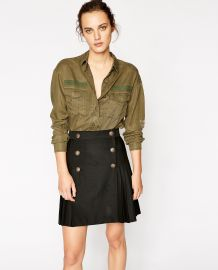 embroidered khaki shirt at The Kooples