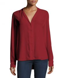 equipment Adalyn Silk Long-Sleeve Blouse at Neiman Marcus