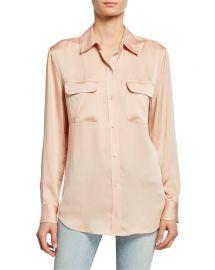 equipment Slim Signature Flap-Pocket Shirt at Neiman Marcus