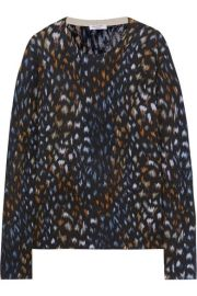 equipment Sloane leopard-print cashmere sweater at Net A Porter