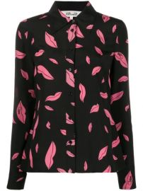 falling lips print shirt at Farfetch