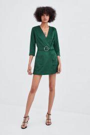 faux suede jumpsuit at Zara
