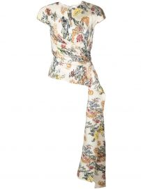 floral fil coupe blouse at Farfetch