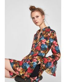 floral print jumpsuit dress multi at Zara