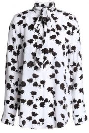 floral blouse by Equipment at The Outnet
