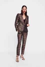 floral jacquard blazer at Zara