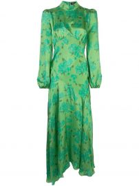 floral-print high-neck satin dress at Farfetch