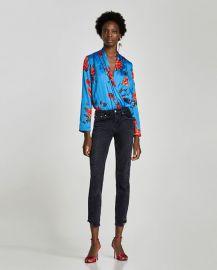 floral print bodysuit at Zara