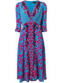floral print midi dress at Farfetch
