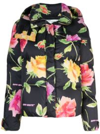 floral-print puffer jacket at Farfetch