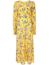 floral print silk dress at Farfetch