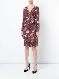 floral wrap dress at Farfetch