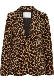 frame Leopard-print cotton-blend velvet blazer at Net A Porter
