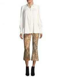 frame Persian Printed Flared Pants at Bergdorf Goodman