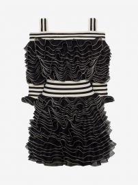 frill mini dress at Alexander McQueen