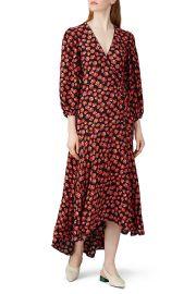 ganni Lindale Printed Wrap Dress at Rent The Runway