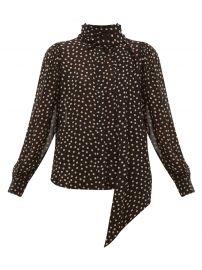 ganni Polka dot-print crepe blouse at Matches