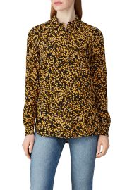 ganni blouse at Rent The Runway