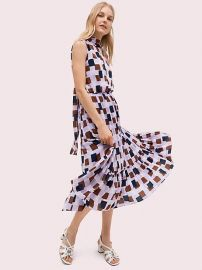 geo squares tie-neck dress at Kate Spade