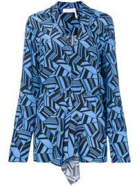 geometric print blouse at Farfetch