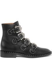 givenchy Elegant studded leather ankle boots at Net A Porter