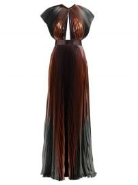givenchy Metallic pleated silk-blend gown at Matches
