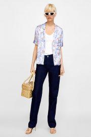 glossy blouse at Zara