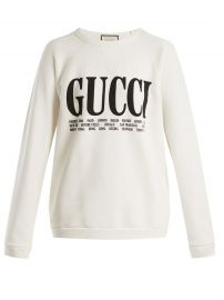 gucci Crew-neck cotton sweatshirt at Matches