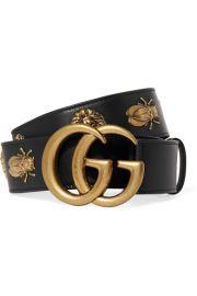 gucci Embellished leather belt at Net A Porter
