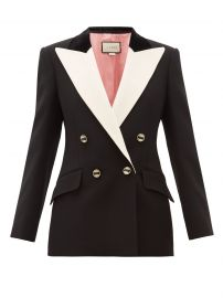 gucci Peak-lapel double-breasted silk-blend blazer at Matches