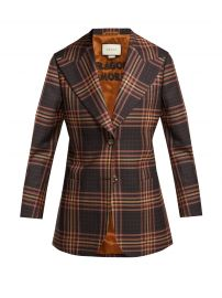 gucci Peak-lapel tartan wool blazer at Matches