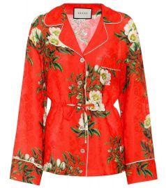 gucci Silk-blend pyjama shirt at Mytheresa