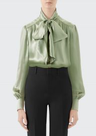 gucci tie neck blouse at Bergdorf Goodman