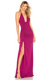 h ours Alfie Gown in Magenta Glitter from Revolve com at Revolve