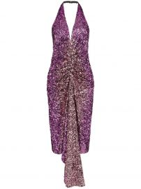 halterneck sequin-embellished dress at Farfetch