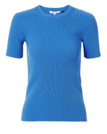helmut lang RIB KNIT ESSENTIAL BLUE TEE at Intermix