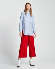 high-waist trousers at Zara
