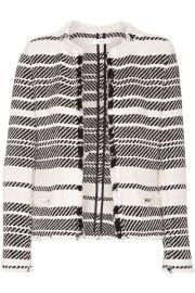 iro Zlata striped cotton-blend tweed jacket at The Outnet