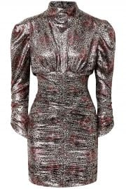 isabel marant Pandor ruched printed silk-blend dress at The Outnet