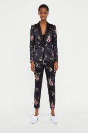 jacquard blazer at Zara