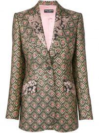jacquard blazer at Farfetch