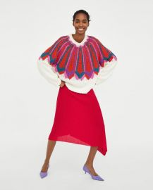 jacquard sweater at Zara