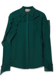 jason wu Pleated ruffled chiffon blouse at Net A Porter