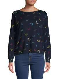 joie Eloisa Butterfly Cotton  Cashmere Sweater at Saks Off 5th