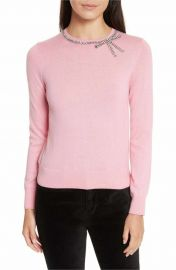 kate spade new york bow embellished sweater in pink at Nordstrom