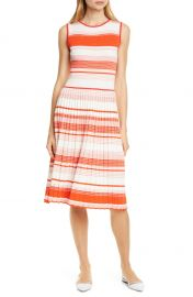 kate spade new york stripe knit pleated dress   Nordstrom at Nordstrom